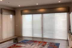 Custom-fabric-cornice-boxes-and-Hunter-Douglas-Designer-Screen-shades-with-power-view-motorization.