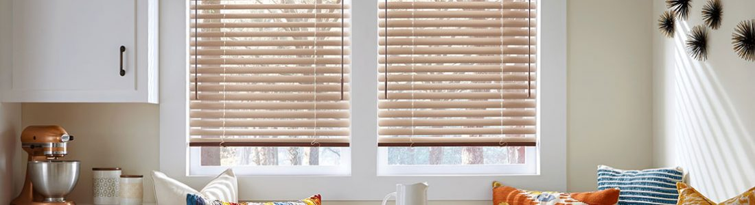 Hunter Douglas natural elements aluminum horizontal blinds