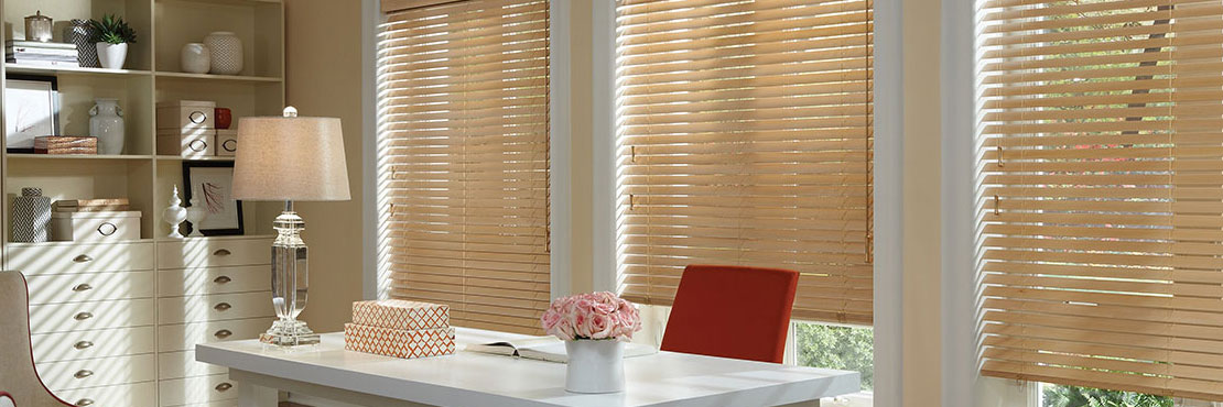 Hunter Douglas parkland classics wood horizontal blinds